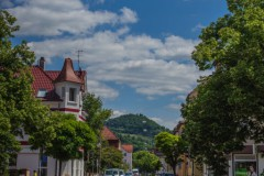 Gminderstraße mit Blick auf die Achalm